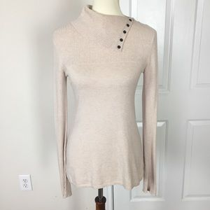 Anthropologie Cream Turtleneck Sweater